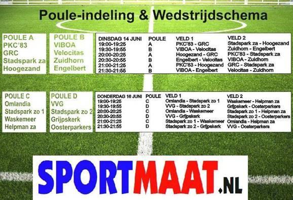 Sportmaat Stadspark 7 tegen 7 toernooi